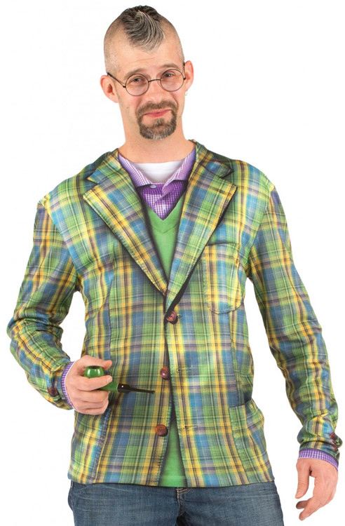 Faux Real Plaid Suit Front View