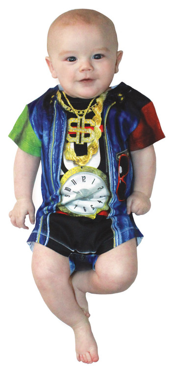 Faux Real Infant Old School Rapper Romper
