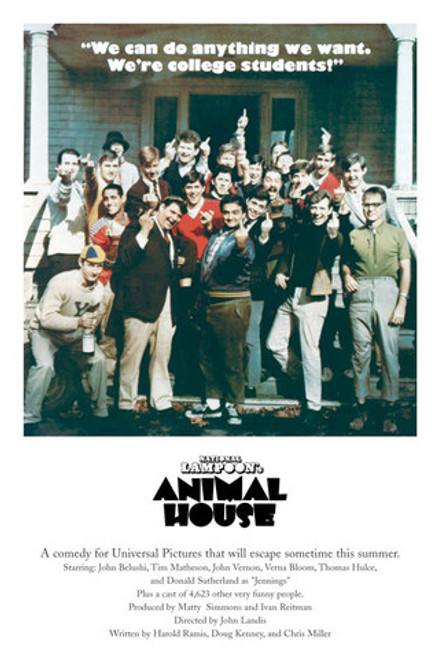 Animal House Movie Poster.