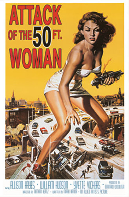 Attack of the 50ft Woman Poster.