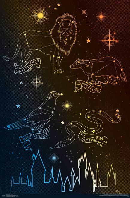 Hogwarts Houses Poster.