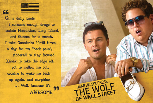 The Wolf of Wall Street Poster.