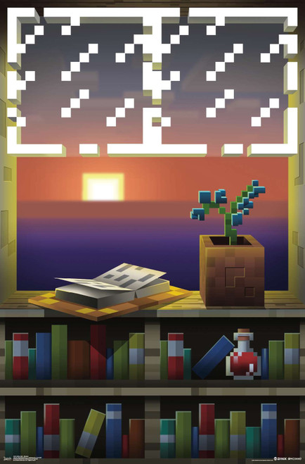 Minecraft Window Poster.