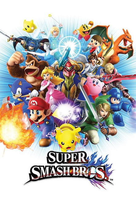Super Smash Bros. Poster.