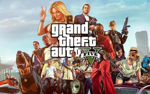 Grand Theft Auto V Poster.