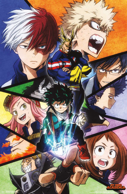 My Hero Academia Collage Poster.