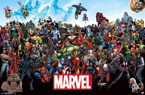 Marvel Comics Lineup Poster.
