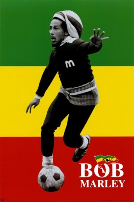 Bob Marley Soccer Poster.