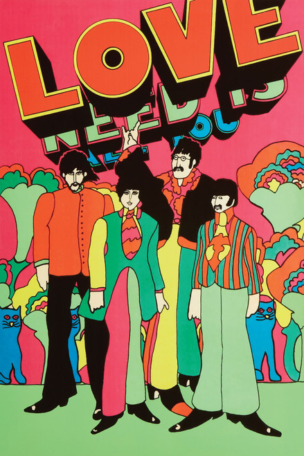 The Beatles Love Poster.