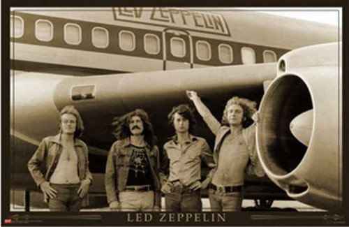 Led Zeppelin Airplane Poster.