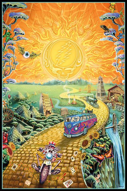 Grateful Dead Golden Road Poster.