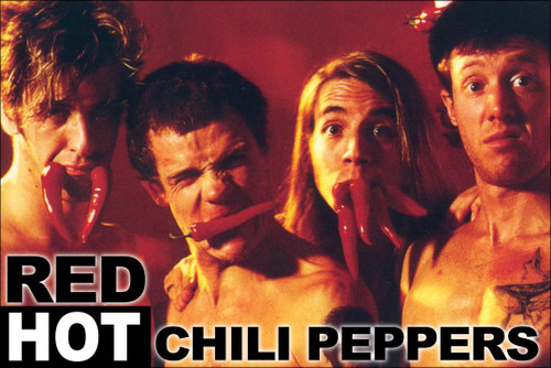 Red Hot Chili Peppers Poster.