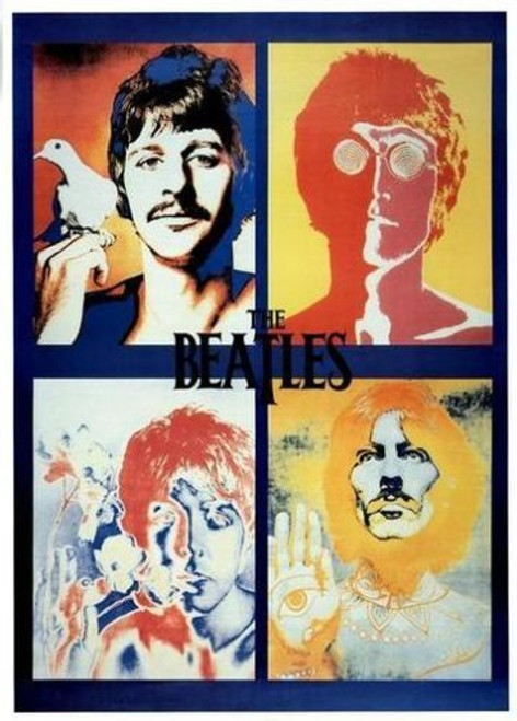 Beatles Four Faces Poster.