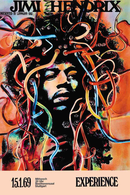 Jimi Hendrix Wired Poster.
