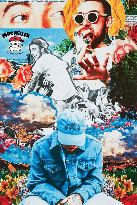 Mac Miller Collage Poster.