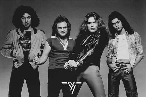 Van Halen Black and White Poster.