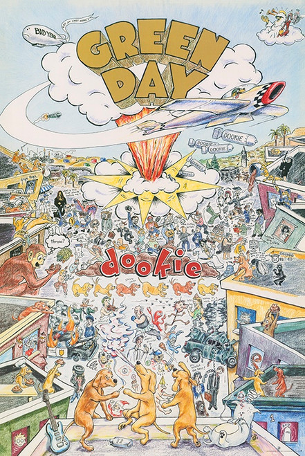 Green Day Dookie Poster.