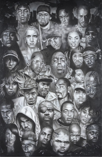 Hip Hop Collage Poster.