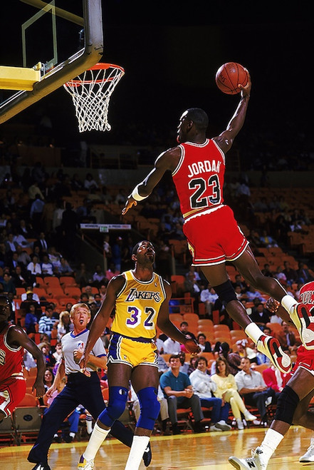 Jordan Dunking on Magic Poster.