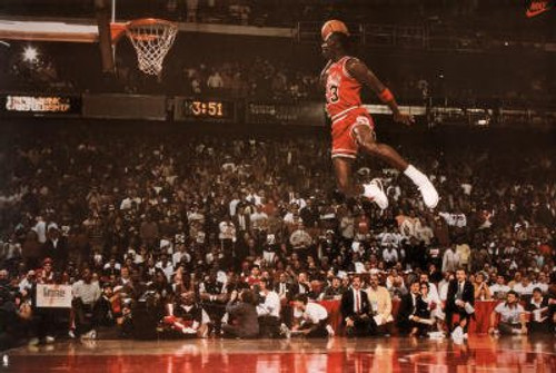 Michael Jordan Slam Dunk Poster.