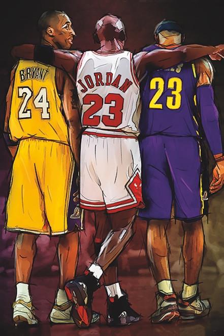 Kobe, Jordan, Lebron Poster.