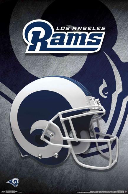 LA Rams Helmet Poster.