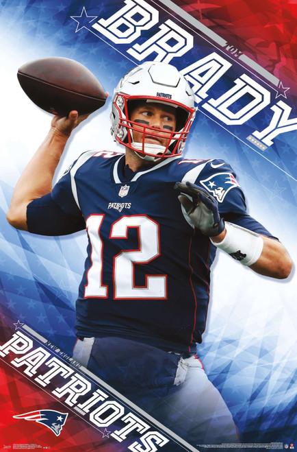 New England Patriots Tom Brady Poster.