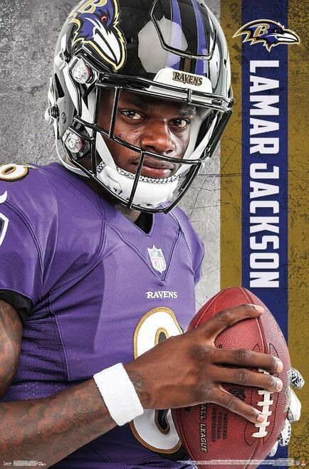 Lamar Jackson Baltimore Ravens Poster.