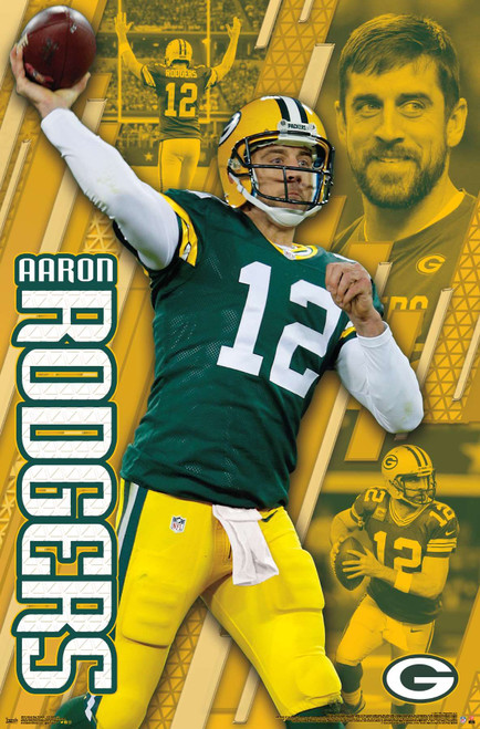 Aaron Rogers Green Bay Packers Poster.