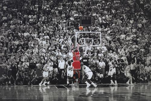Jordan Dunking Chicago Bulls Poster.
