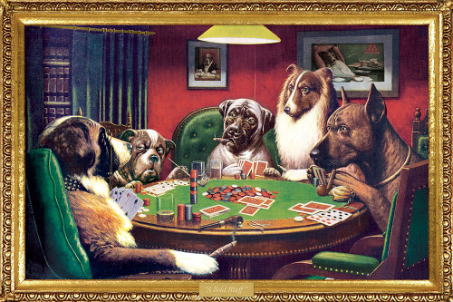 Dogs Playing Poker Poster.