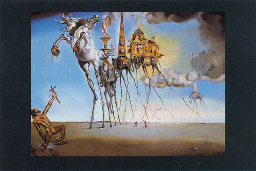 The Temptation of St. Anthony by Dali.