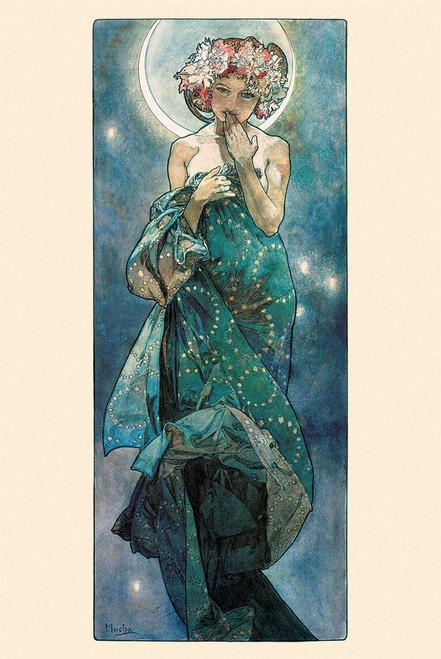 Mucha Moon Poster.