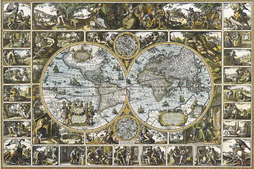 Magna Carta Mundi 1670 Poster.