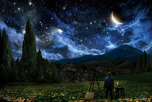 Starry Night Painter Poster.