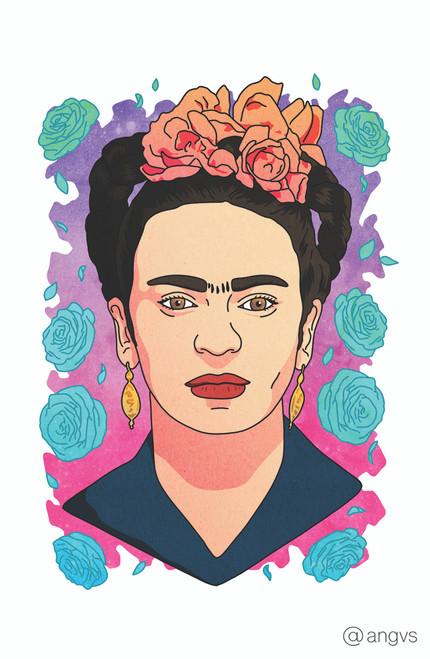 Angvs Floral Frida Poster Invasion Print.