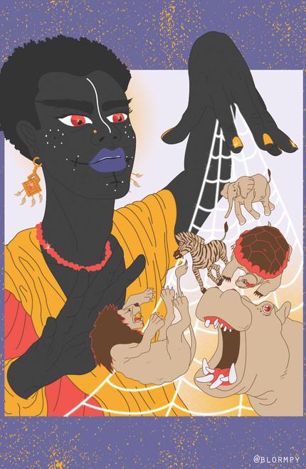 Blormpy Anansi Poster Invasion Print.
