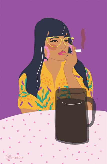 bruna.bsa Coffee n Smoke Poster Invasion Print.