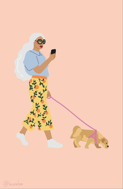Bruna.Bsa Doggy Poster Invasion Print.