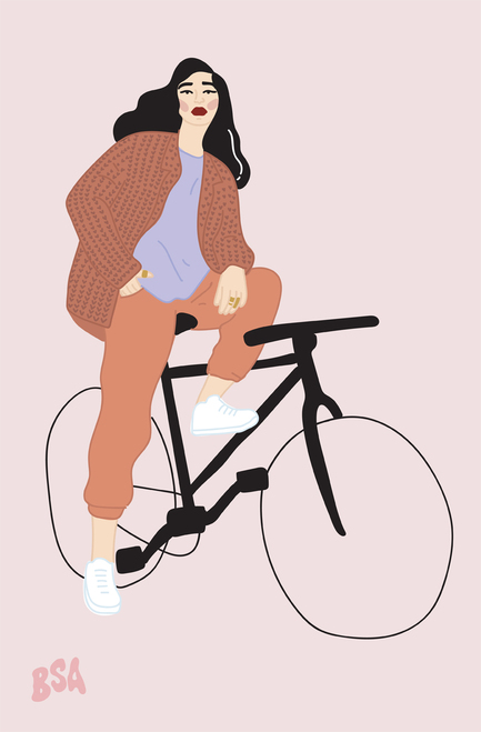 Bruna.bsa Bike Poster Invasion Print.