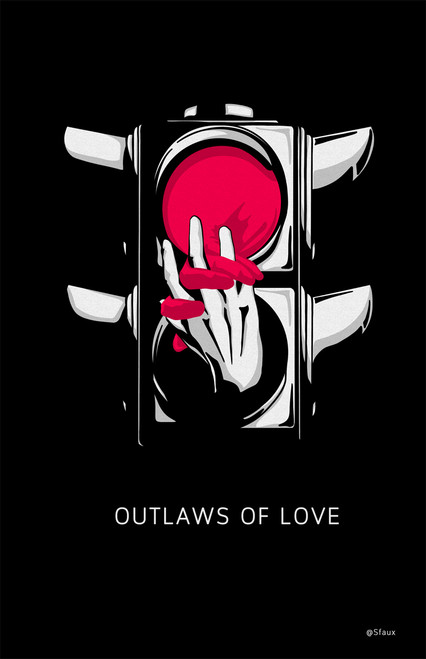 sfaux Outlaws of Love Poster Invasion Print.
