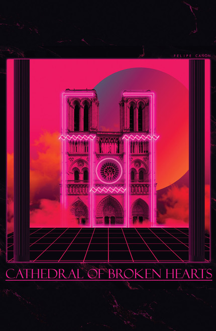 vaporwavebomb Cathedral Poster Invasion Print.
