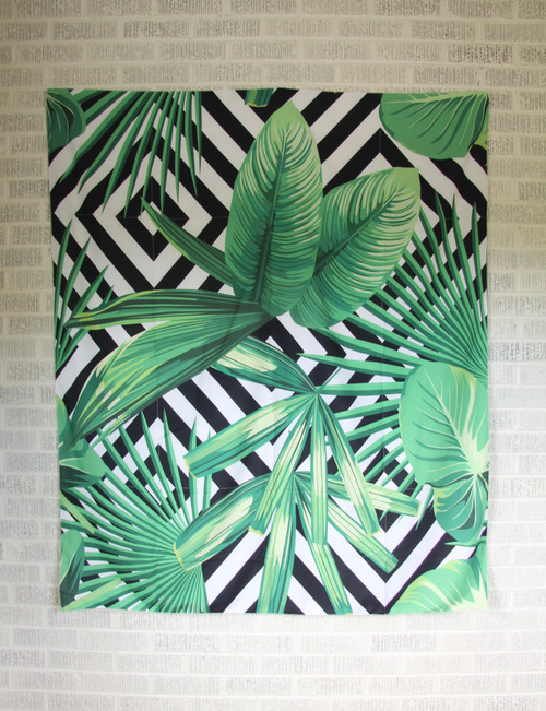 Geometric Leaves Tapestry.