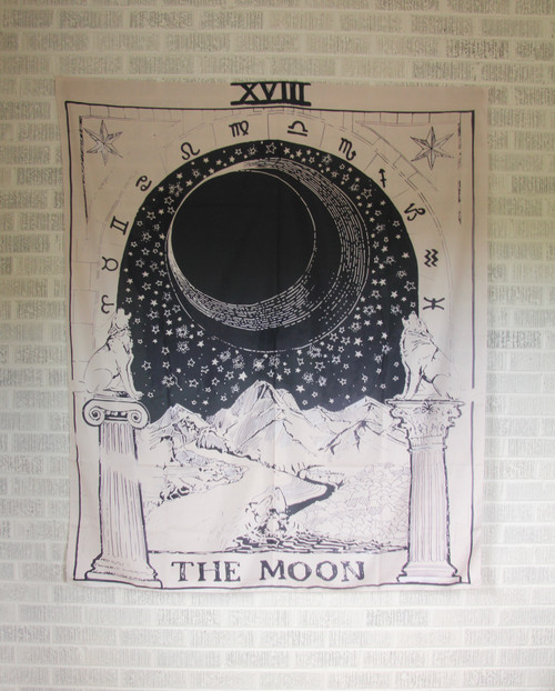 Moon Tarot Tapestry.