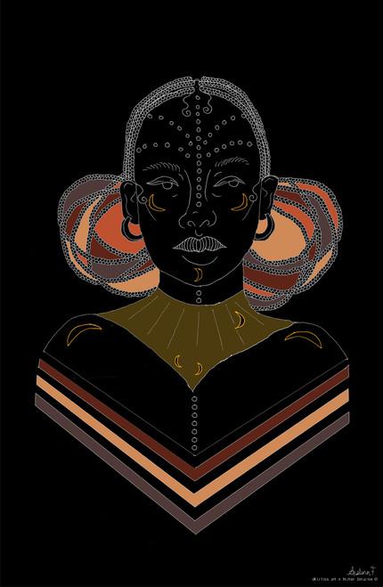 aislinn.art Triangle Braids Poster Invasion Print.
