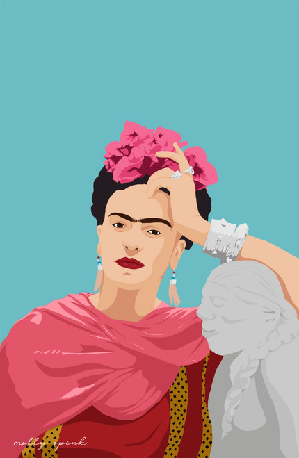 Frida by Mollyspink.creative Poster Invasion Print.