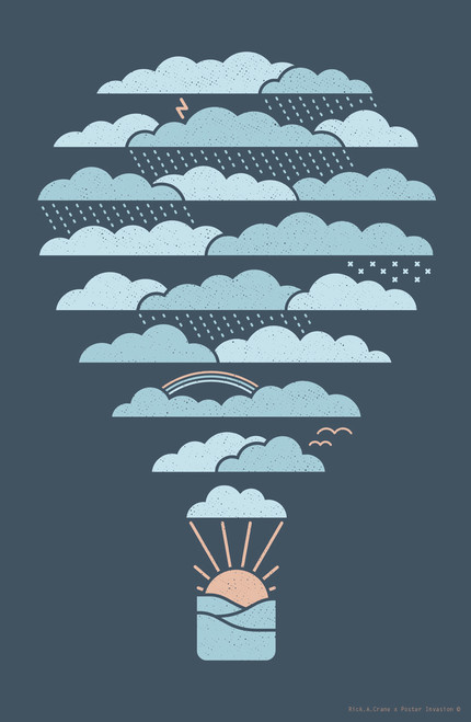 Weather Balloon by Rick A Crane Poster Invasion Print.