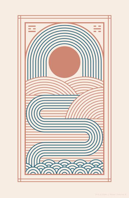 Zen River by Rick A Crane Poster Invasion Print.