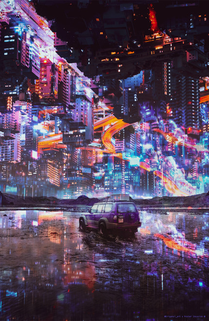 Surreal City by Trigonal_Art Poster Invasion Print.
