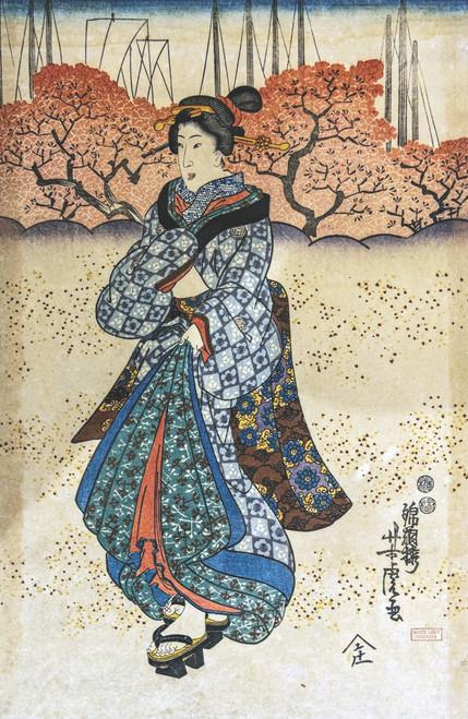 Beauty in Kimono by Yoshitora.